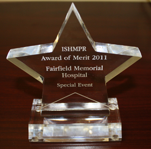 In 2011, Fairfield Memorial Hospital was recognized with the award of merit in the Special Events category for their Medical Arts Complex Open House marketing materials produced in Spring of 2011.