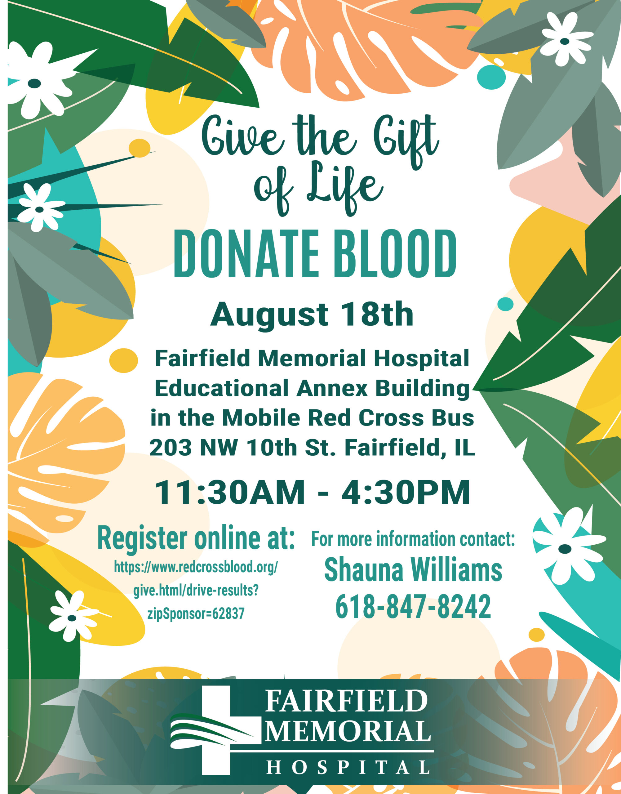 Summer Blood drive flyer